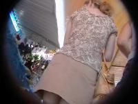 Neglect girl upskirt outdoors