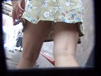 Pedestrian girl upskirt