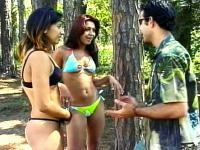 Hot MFF Outdoor Bisexual Threesome