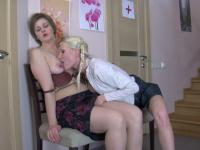 Leonora and Hilda lesbian mom on video