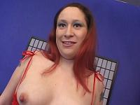 Preggo Brunette Stripping