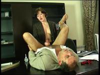 Sizzling hot secretary having strong desire to put in action her strap-on