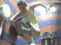 Careless pissers filmed by a ladies' room voyeur