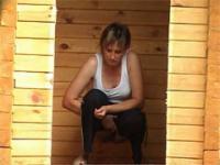 Peeing fat-ass mommas fall victim to kinky voyeur
