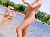 Nothing is more fun for this teen than being nude