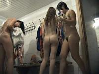 Four amazing butts from changing room in your face