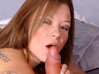 Cock Greedy Brunette Blowjob