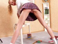 Sweet schoolgirl doing some very hot homework