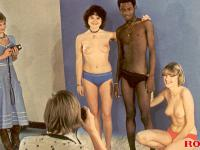 Very horny hardcore retro interracial foursome pictures