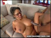 Horny black mom gets fucked by younger dude