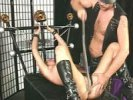 Master gives bondage and pussy whipping session to young slut