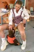 Tender babe in schoolgirl uniform. Tender teen babe in exciting schoolgirl uniform