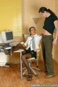 Hot office hardcore sex. Delivery boy gets some sweet blowjob from hot secretary