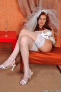 Busty bride Barbara. Busty bride likes to drink