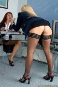 Two lesbian secretaries. Passionate lesbian games of two slutty secretaries