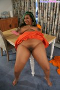 Exotic fatty from India rips her yellow sari off
