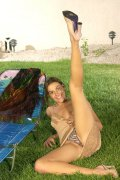 Indian beauty models her zebra striped panties