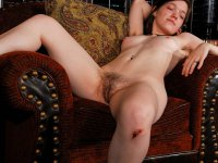 Kirsten - Young hippie girl does a strip tease to reveal her hairy bush.